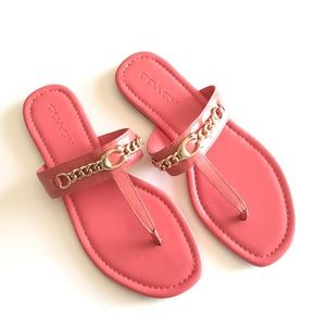 COACH New Sandals Pink Gold 9.5